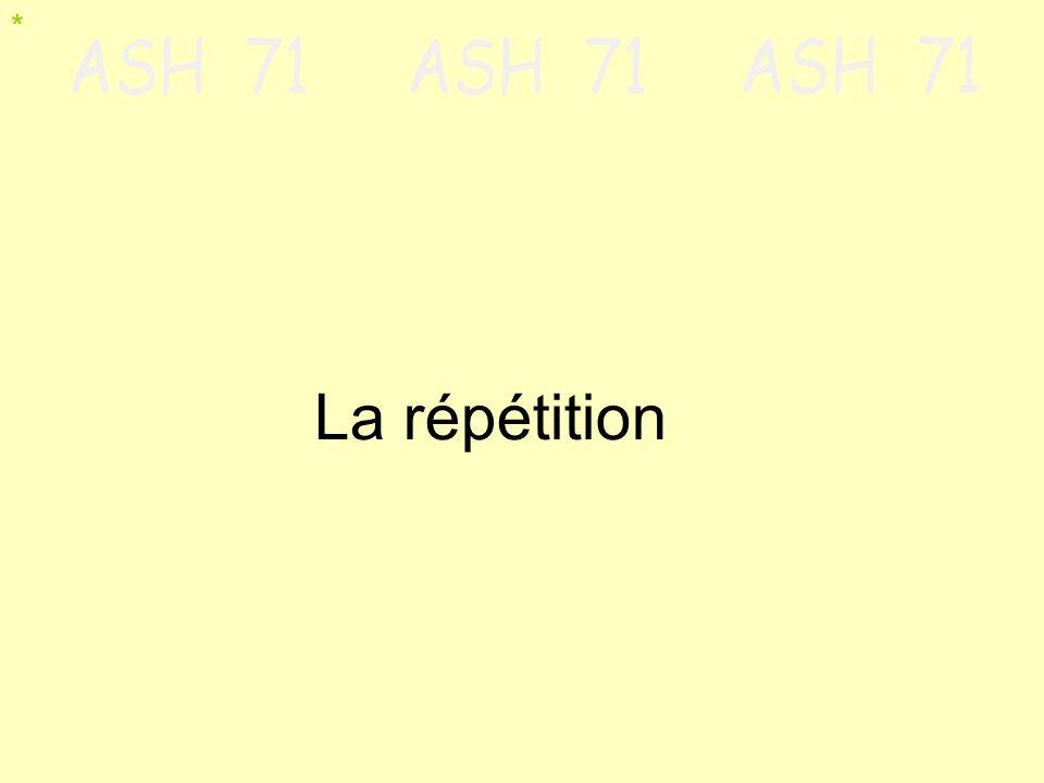 La répétition *