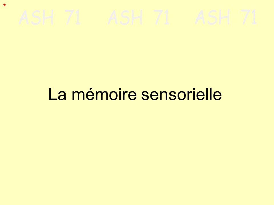 La mémoire sensorielle *