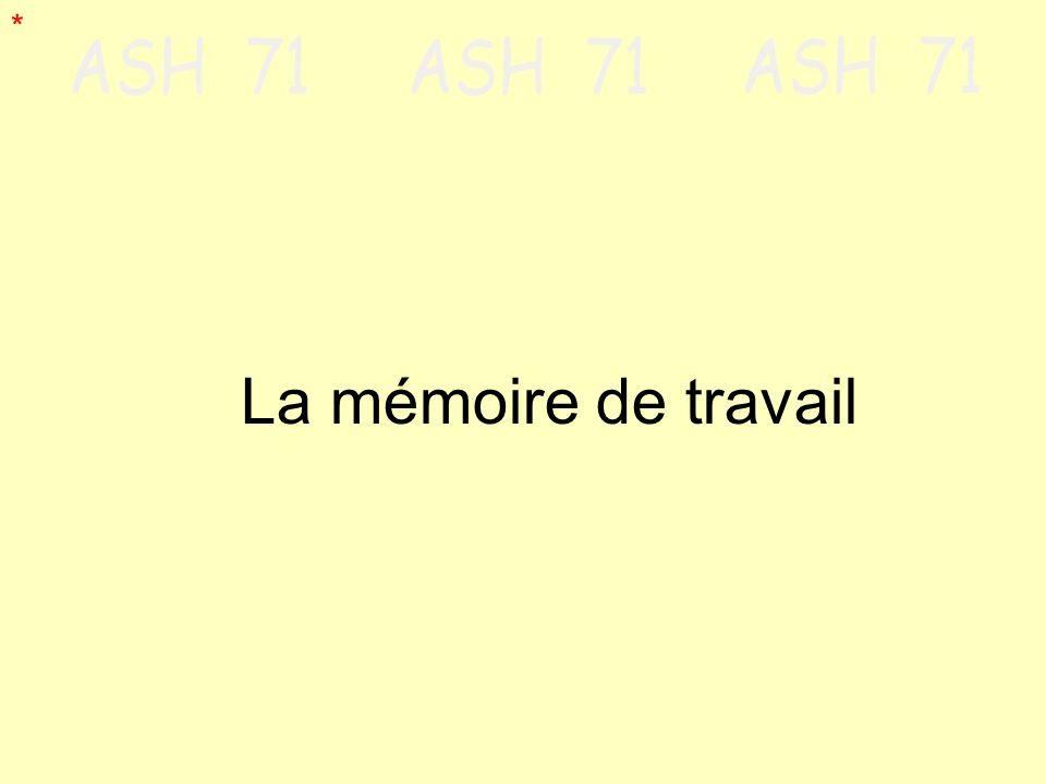 La mémoire de travail *