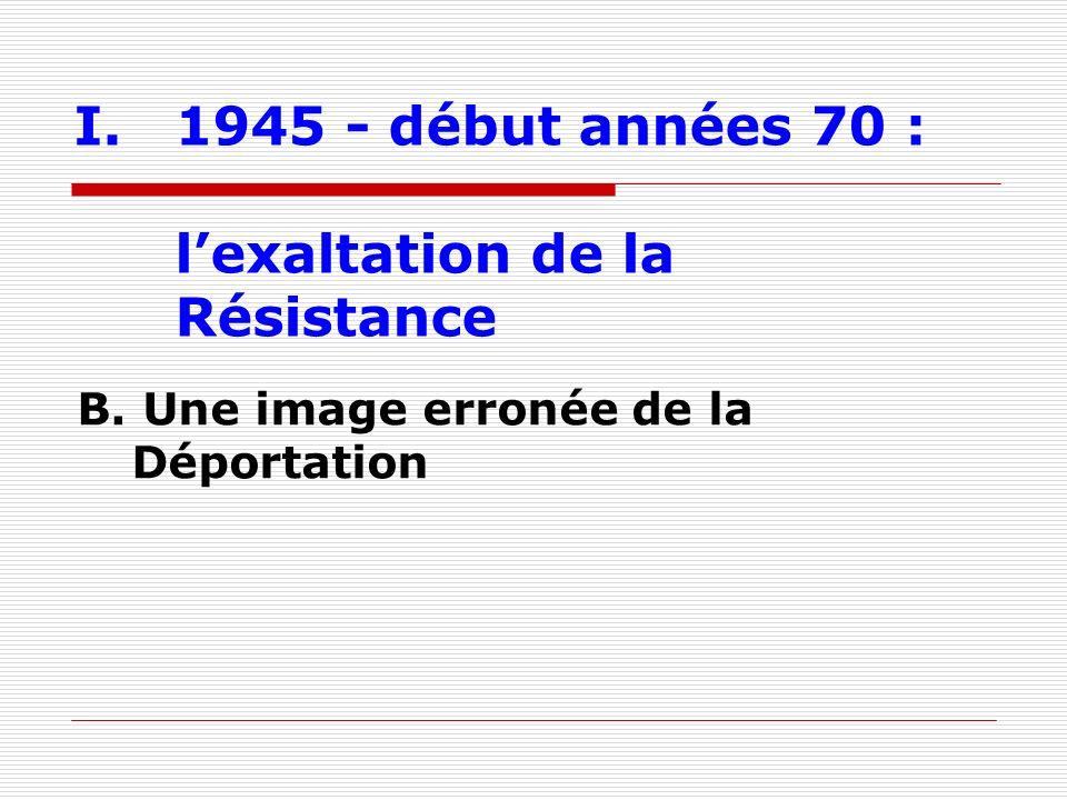 I.1945 - début années 70 : lexaltation de la Résistance B. Une image erronée de la Déportation
