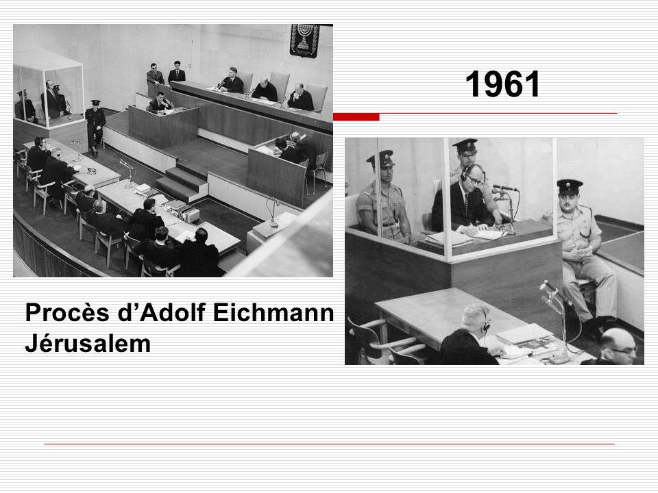 1961 Procès dAdolf Eichmann Jérusalem