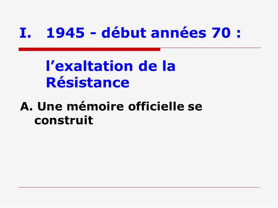 II. de 1971 à 1995 : la fin des amnésies A. La mise en lumière de Vichy et de la Collaboration