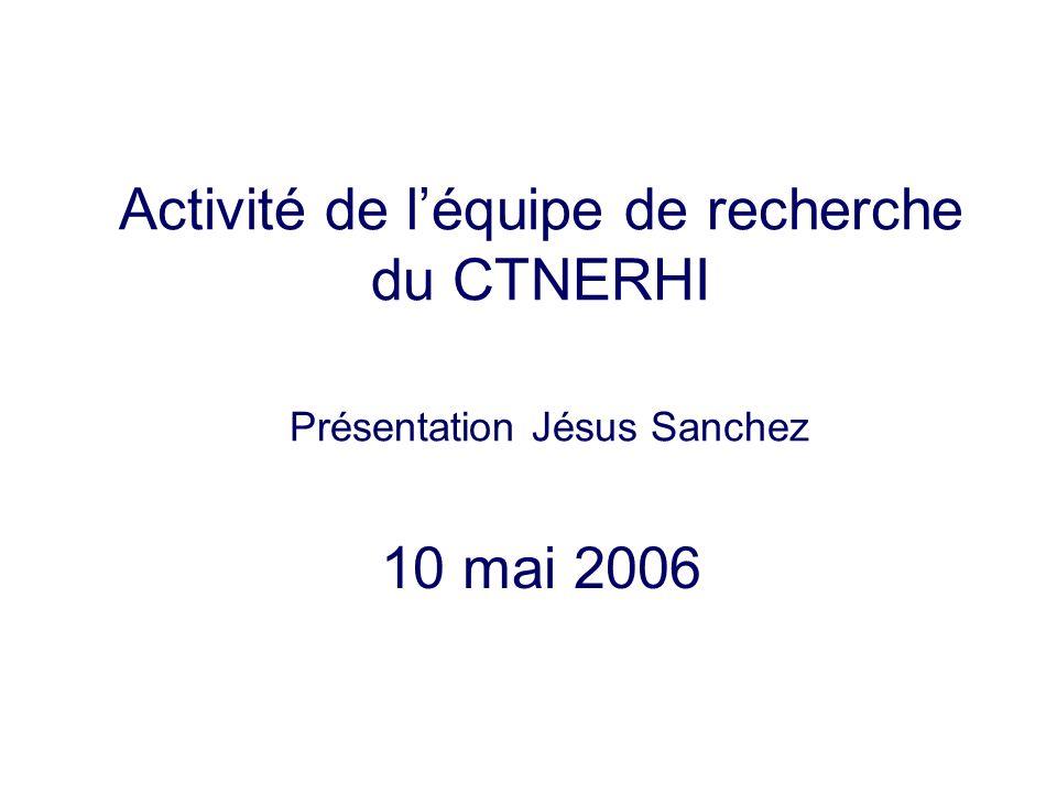 Activité de léquipe de recherche du CTNERHI Présentation Jésus Sanchez 10 mai 2006