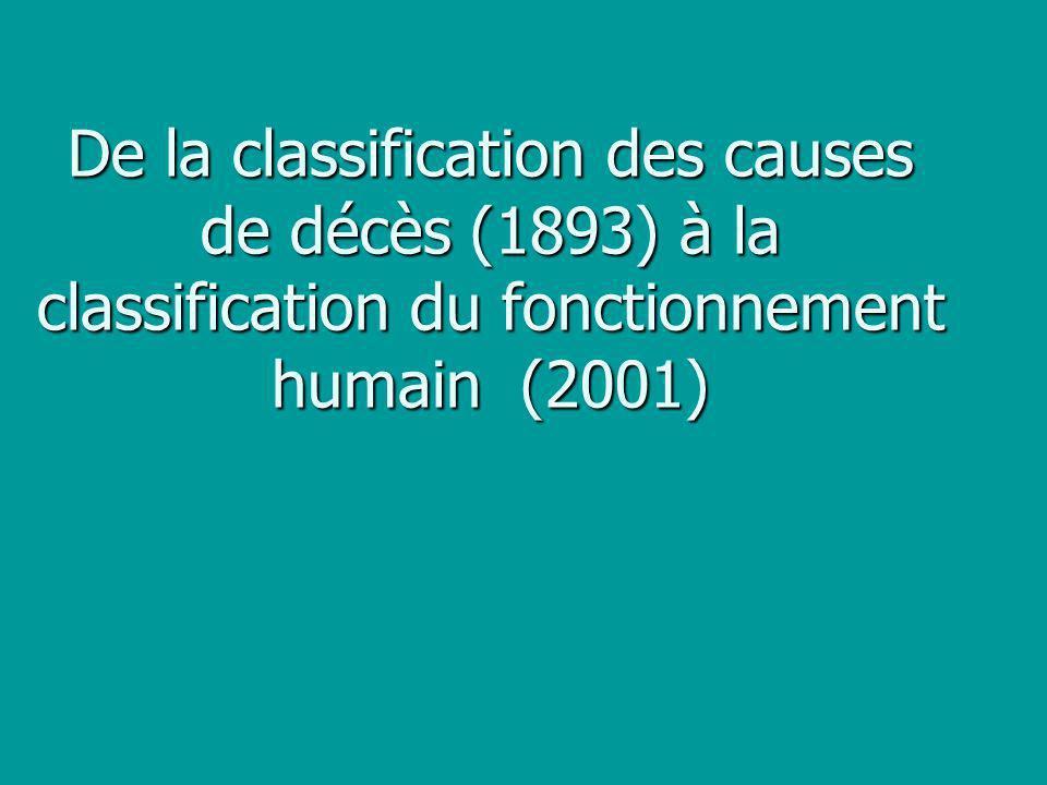 Pourquoi une classification internationale .