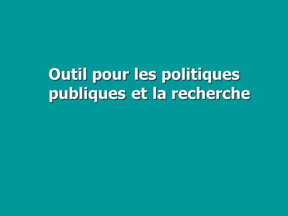 Outil pour les politiques publiques et la recherche