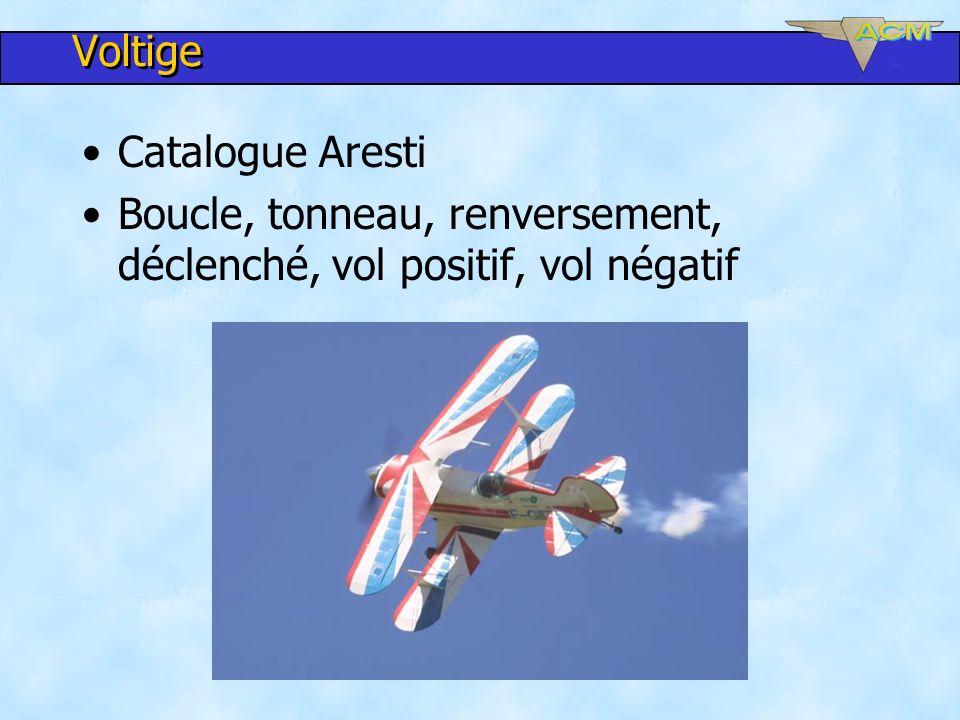 Voltige Catalogue Aresti Boucle, tonneau, renversement, déclenché, vol positif, vol négatif