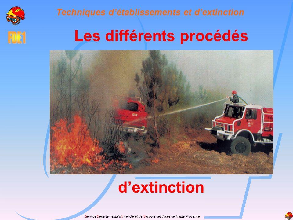 Service Départemental dIncendie et de Secours des Alpes de Haute Provence Les phases de lutte Le feu est fixé lorsque la tête ne progresse plus.
