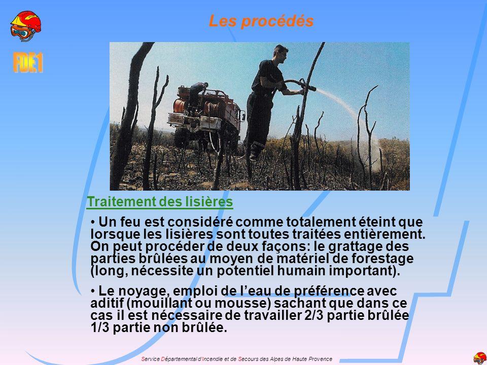 Service Départemental dIncendie et de Secours des Alpes de Haute Provence Les phases de lutte