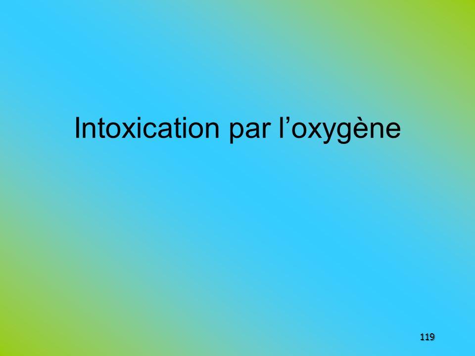 Intoxication par loxygène 119