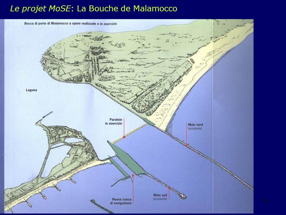 eddyburg.it, Lyon juin 200415 Le projet MoSE: La Bouche de Malamocco