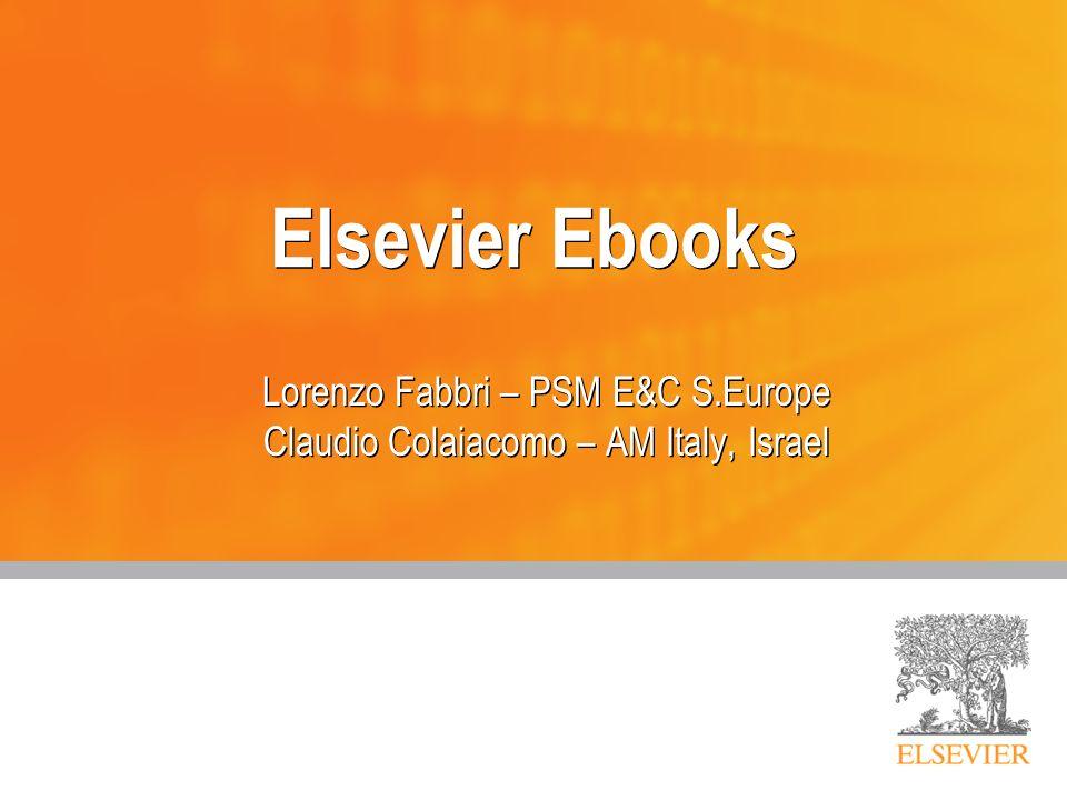2 Agenda Ebooks e mercato Differenti soluzioni Elsevier Collezioni Engineering: CRC Collezioni Engineering: Referex Perpetual access Books on Science Direct Major Reference Works