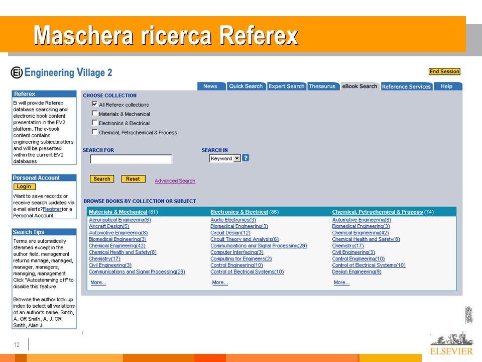 12 Maschera ricerca Referex