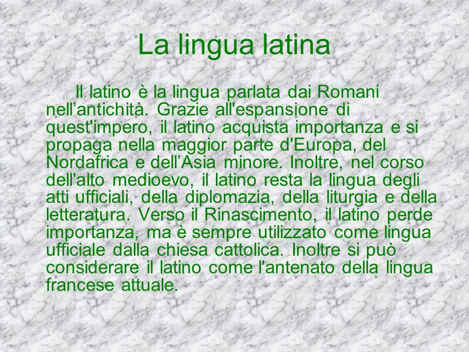 Linfluence du latin - Linfluenza del latino Roma