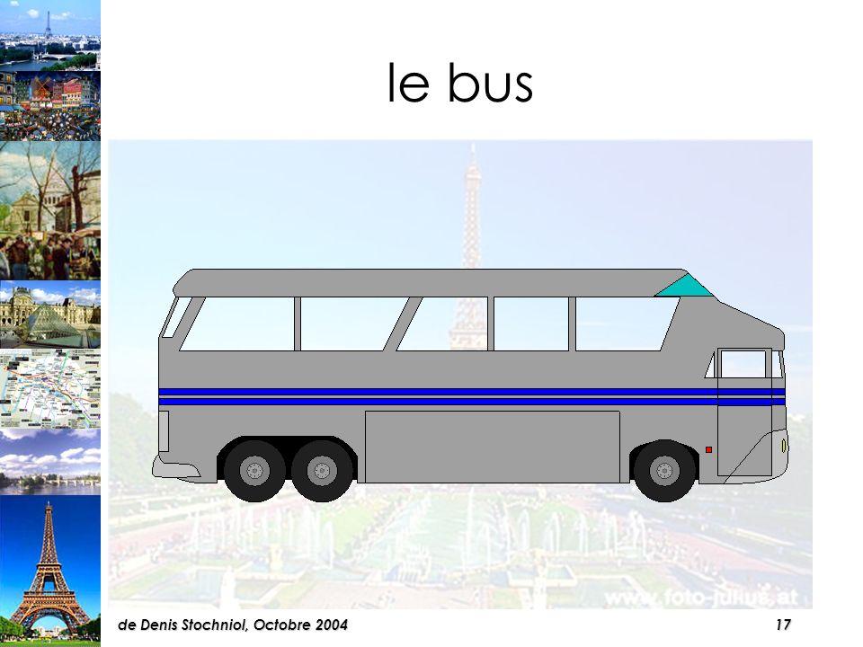 16de Denis Stochniol, Octobre 2004 A Paris, il a quatre variantes pour voyager en ville...