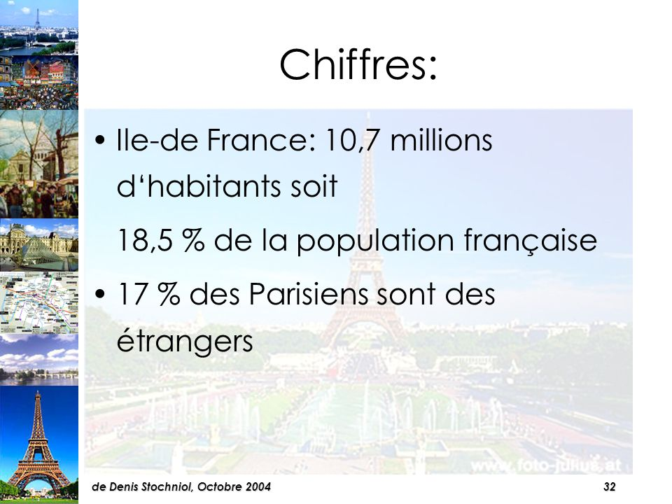 31de Denis Stochniol, Octobre 2004 IV La population