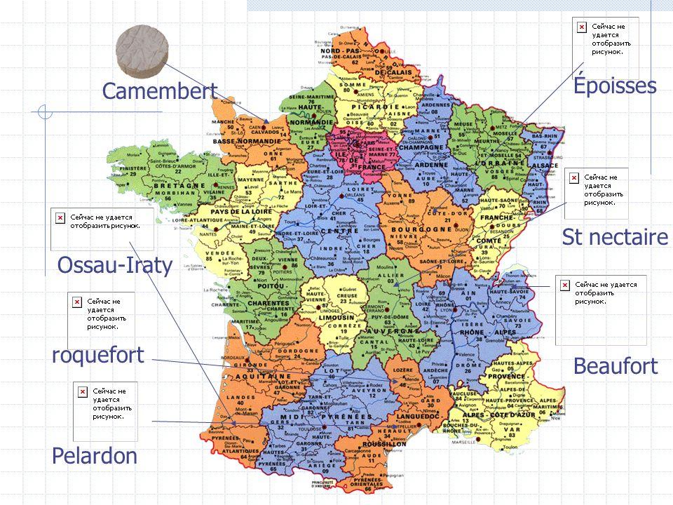 Époisses Camembert St nectaire Ossau-Iraty Beaufort roquefort Pelardon