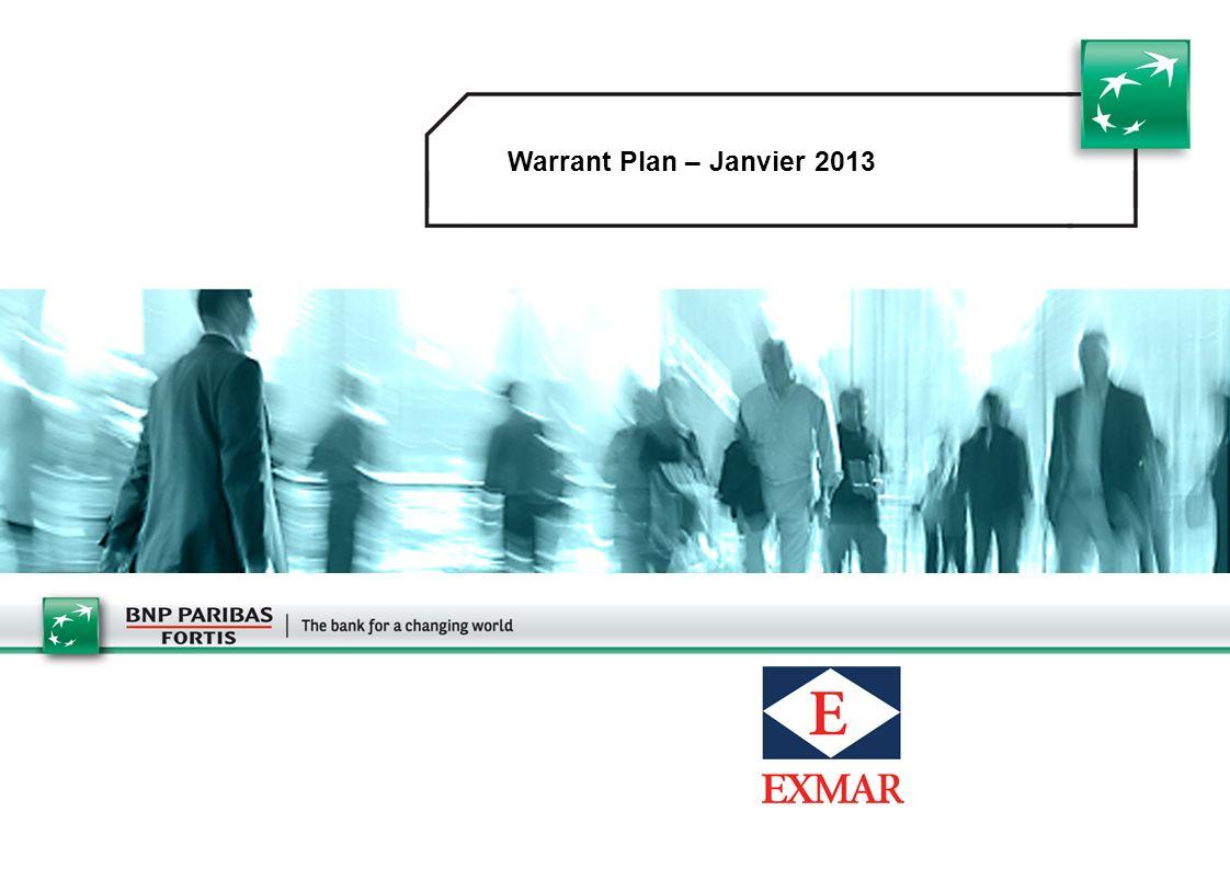1 Warrant Plan – Janvier 2013