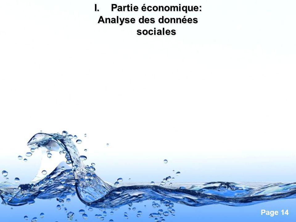 Page 14 I.Partie économique: Analyse des données sociales