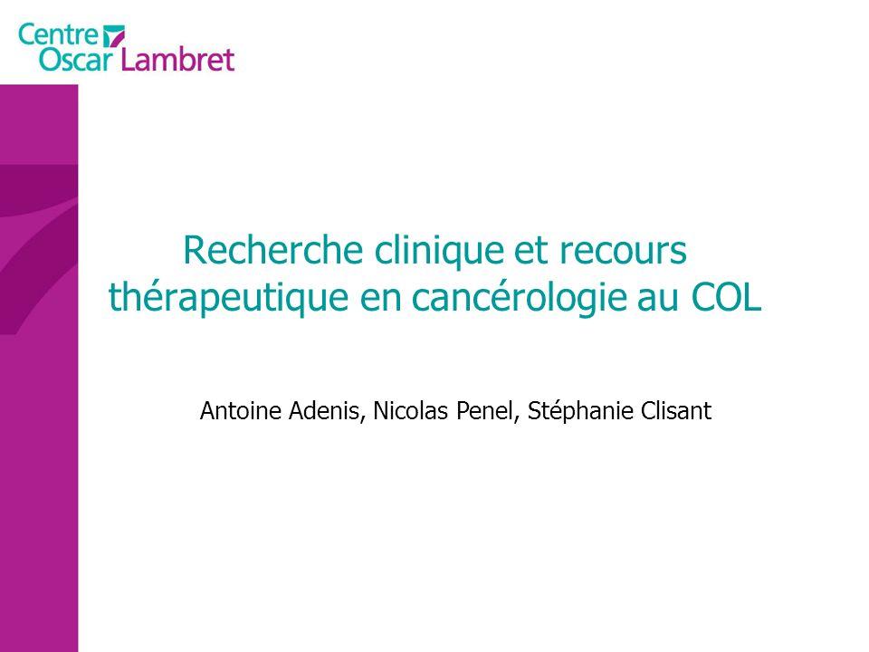 Oncologie médicale Cancers/situations rares situations déchec thérapeutique
