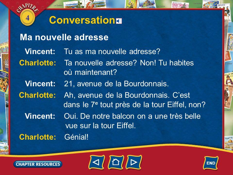 4 Conversation Ma nouvelle adresse