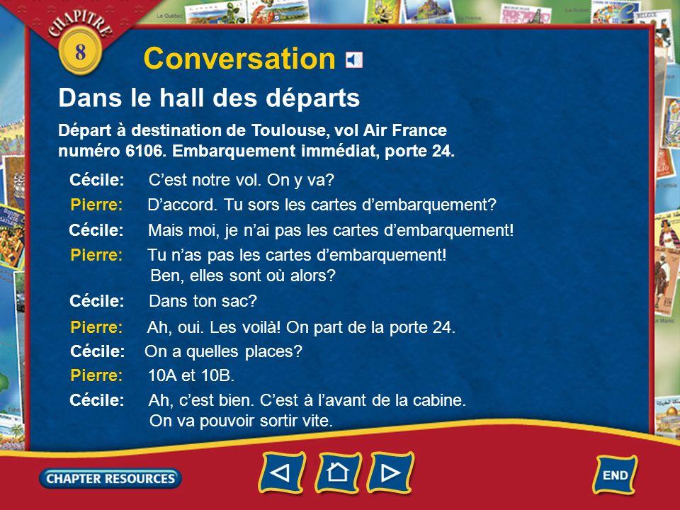8 Conversation Dans le hall des départs