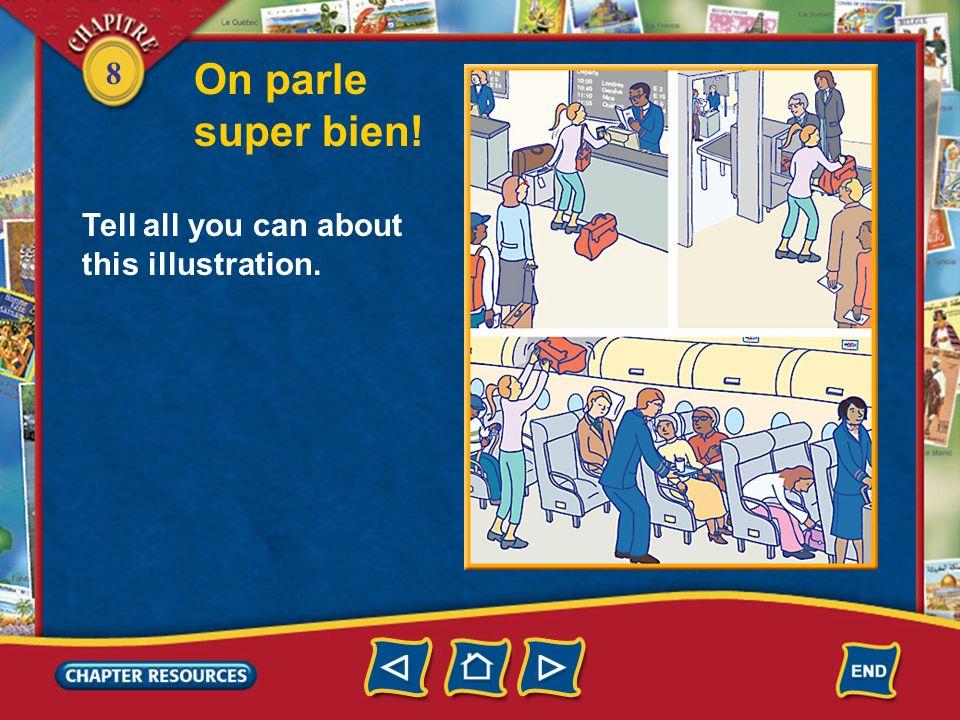 8 Prononciation Le son /l/ final 2. Now repeat the following sentences. Cest un vol international spécial. Quelle est la ville principale? Mademoisell