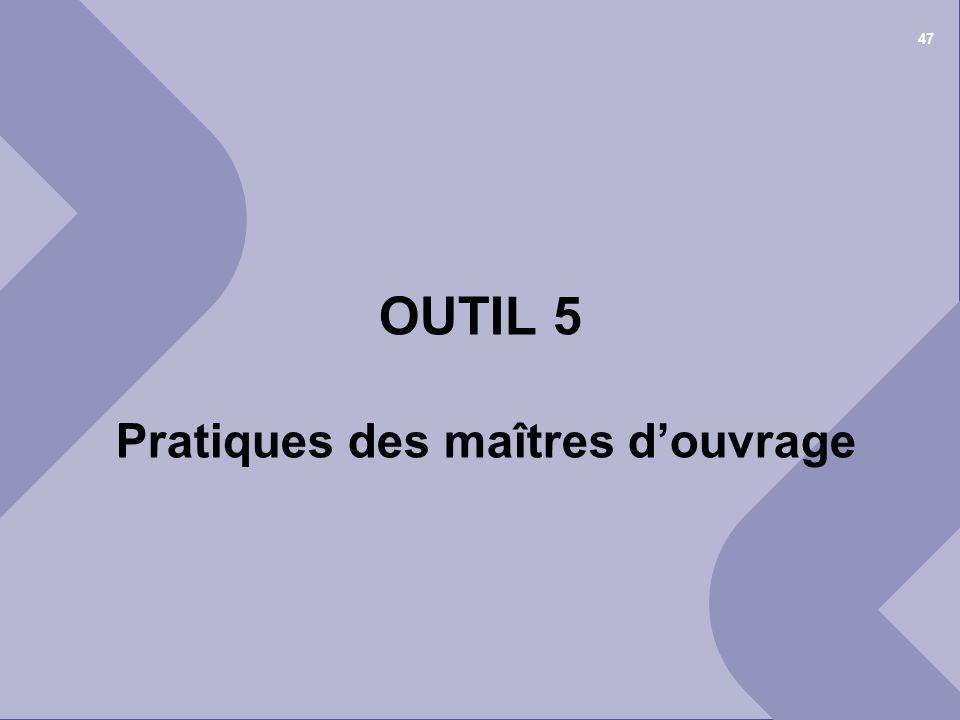 25 juin 2012© Cellule Economique Rhône-Alpes 1 er COPIL « déchets et recyclage » du BTP Ain 47 OUTIL 5 Pratiques des maîtres douvrage