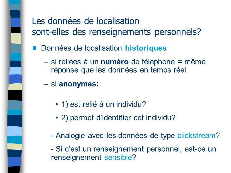 Les données de localisation sont-elles des renseignements personnels.