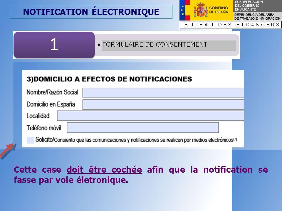 NOTIFICATION ÉLECTRONIQUE CONSENTEMENT OPTION 1.Personnes morales Optionnel (art.