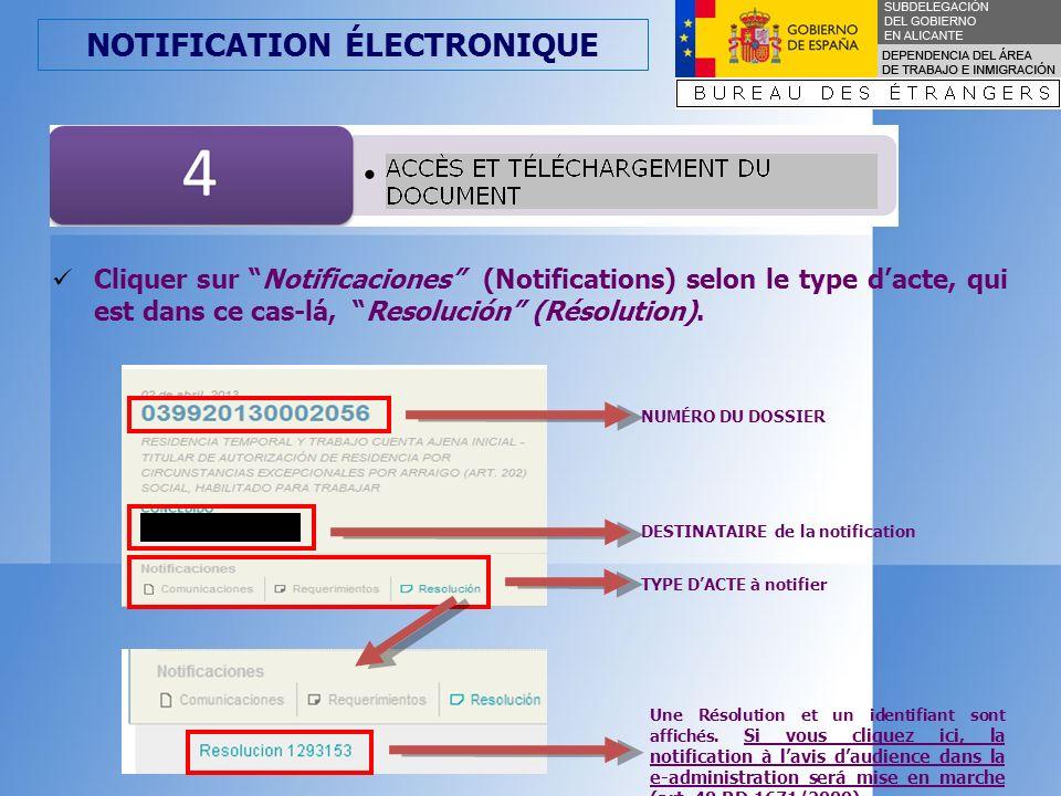 NOTIFICATION ÉLECTRONIQUE Avant daccéder au document, un avertissement nous informe de la nature de la notification de laction administrative quimplique cet accès.