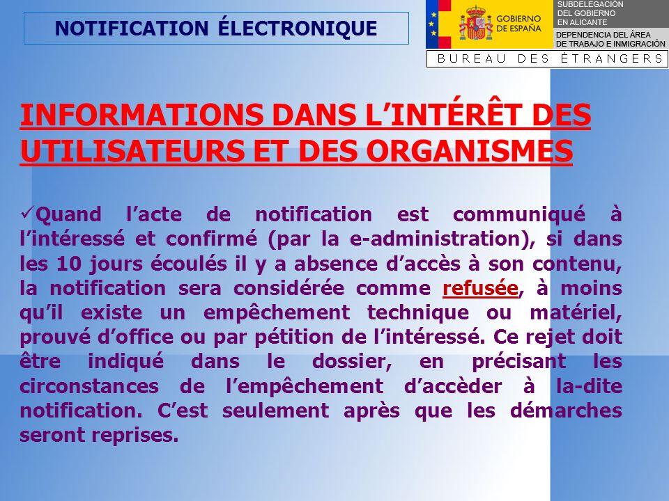 NOTIFICATION ÉLECTRONIQUE Article 28.Application de la notification par moyens électroniques.