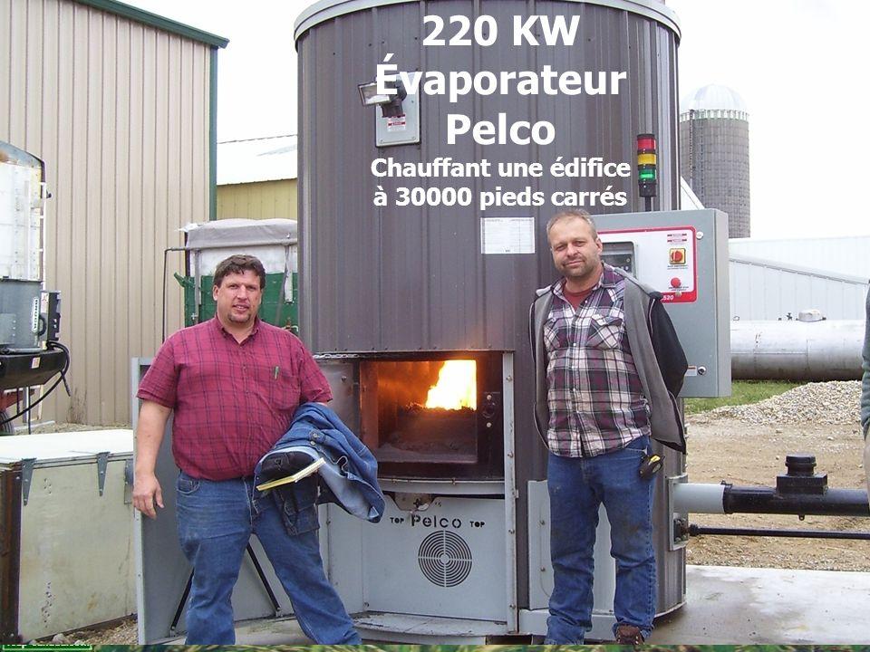 reap-canada.com 220 KW Évaporateur Pelco Chauffant une édifice à 30000 pieds carrés