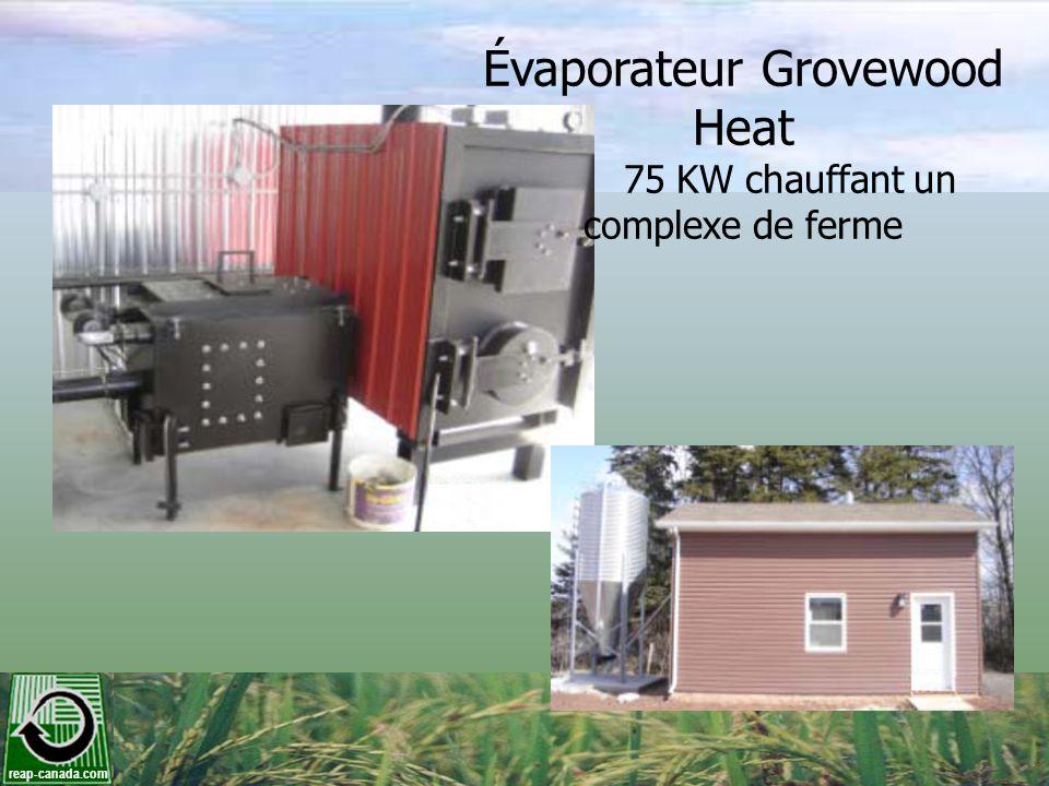 reap-canada.com Évaporateur Grovewood Heat 75 KW chauffant un complexe de ferme