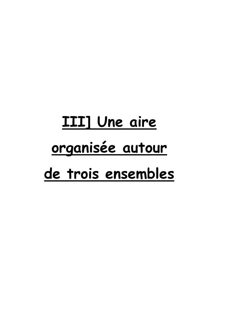 III] Une aire organisée autour de trois ensembles