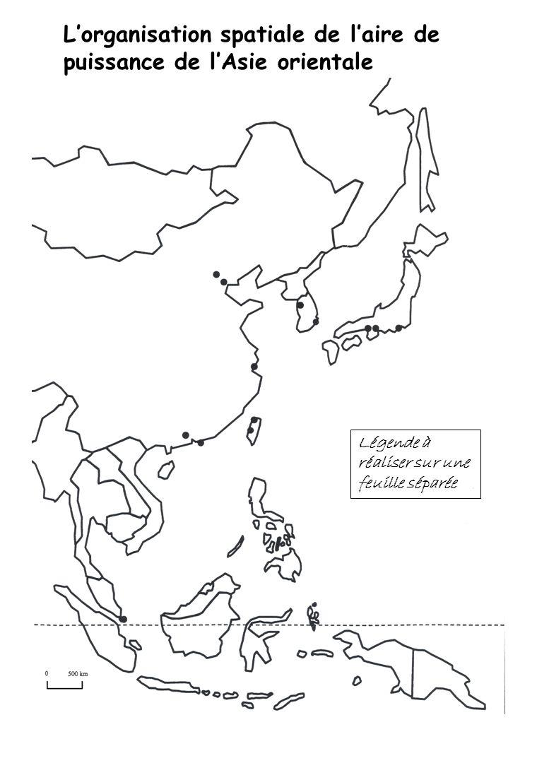 I] Une aire hiérarchisée et en expansion Les trois types de pays composant laire de puissance :