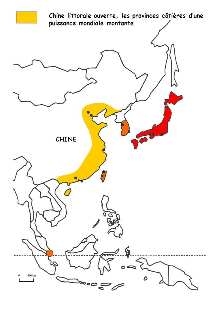 ETATS -UNIS EUROP E Shanghai Hong Kong JAPONCOREE DU SUD TAIWAN SINGAPOUR Tokyo Beijing Séoul Taipei Tianjin Nagoya Osaka Pusan Guangzhou Kaohsiung Lorganisation spatiale de laire de puissance de lAsie orientale CHINE PHILIPPINES MALAISIE INDONESIE THAILANDE VIETNAM MOYEN- ORIENT
