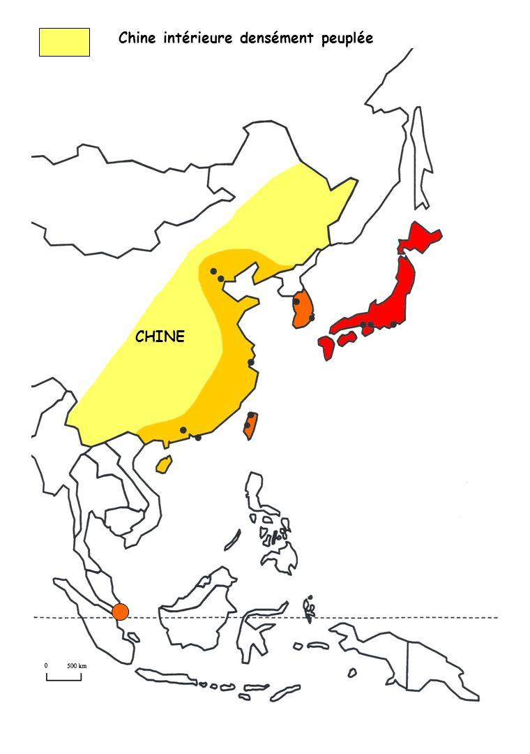 Chine intérieure densément peuplée CHINE