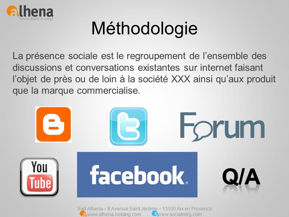 Sarl Alhena – 9 Avenue Saint Jérôme – 13100 Aix en Provence www.alhena-holding.com www.socialmkg.com Tendances Les « tendances » représentent la tonalité des propos ou contenu trouvé sur Internet concernant la marque.
