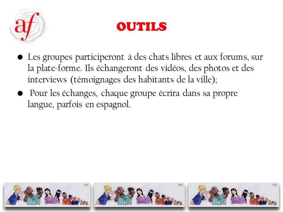 OUTILS Les groupes participeront à des chats libres et aux forums, sur la plate-forme.