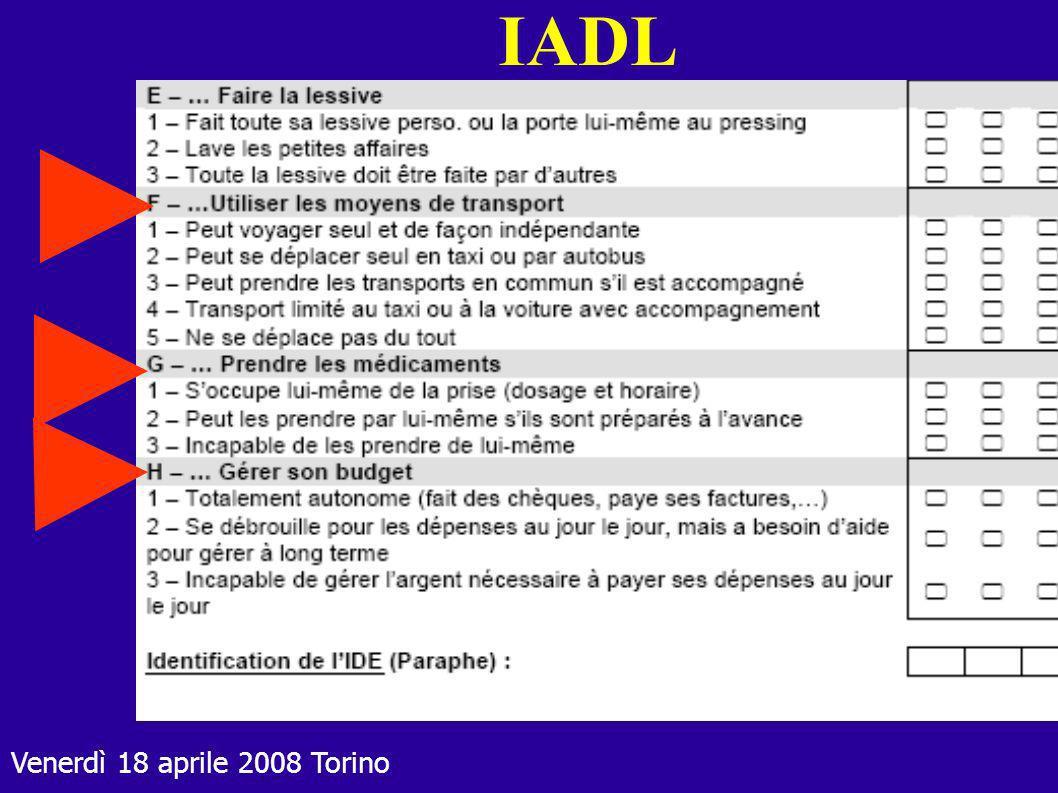 Venerdì 18 aprile 2008 Torino IADL