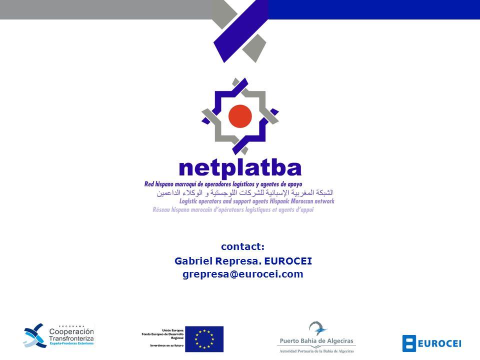 contact: Gabriel Represa. EUROCEI grepresa@eurocei.com