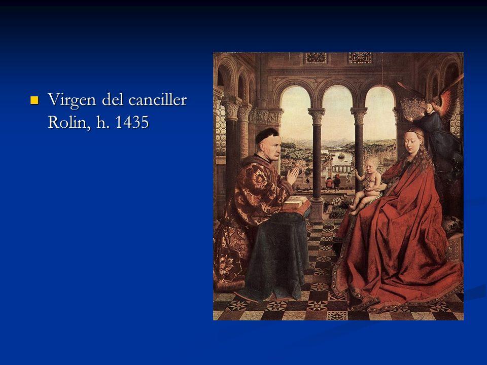 Virgen del canciller Rolin, h. 1435 Virgen del canciller Rolin, h. 1435