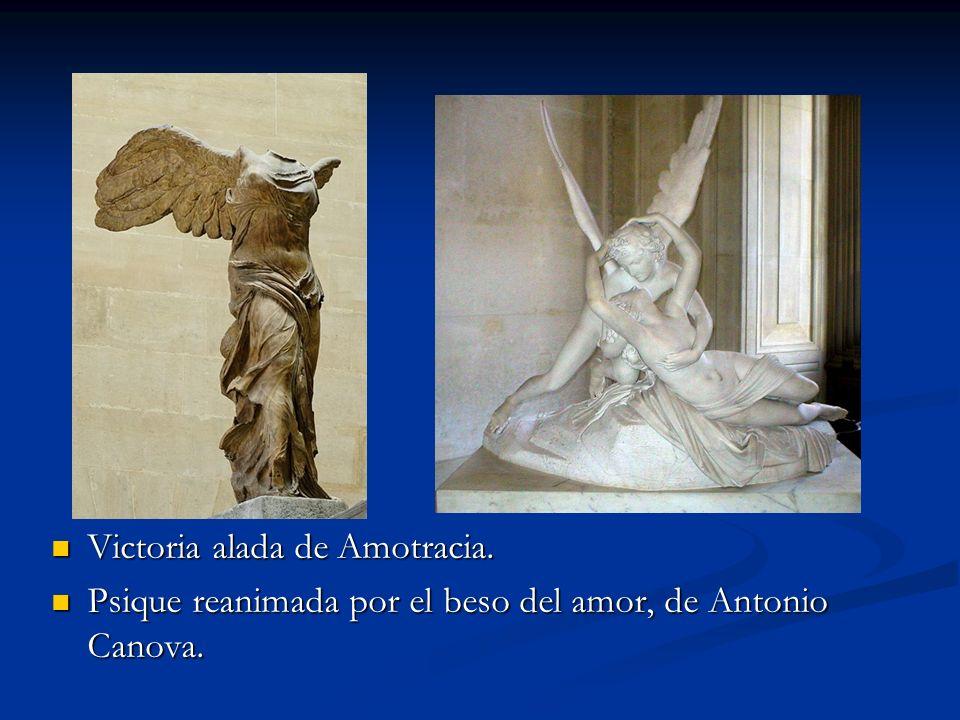 Victoria alada de Amotracia. Psique reanimada por el beso del amor, de Antonio Canova.