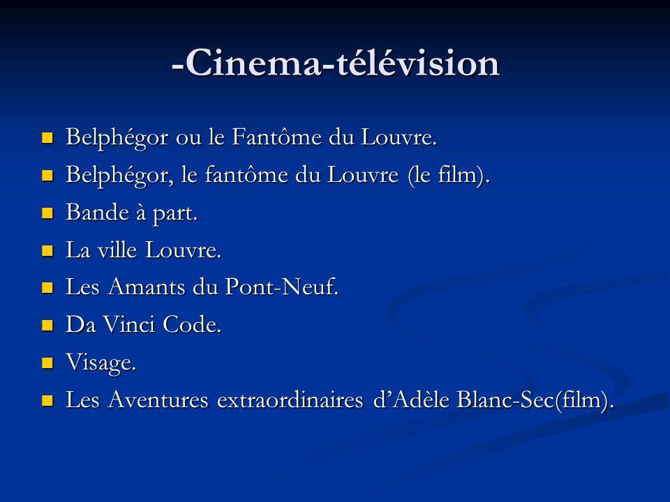 -Cinema-télévision Belphégor ou le Fantôme du Louvre. Belphégor ou le Fantôme du Louvre. Belphégor, le fantôme du Louvre (le film). Belphégor, le fant
