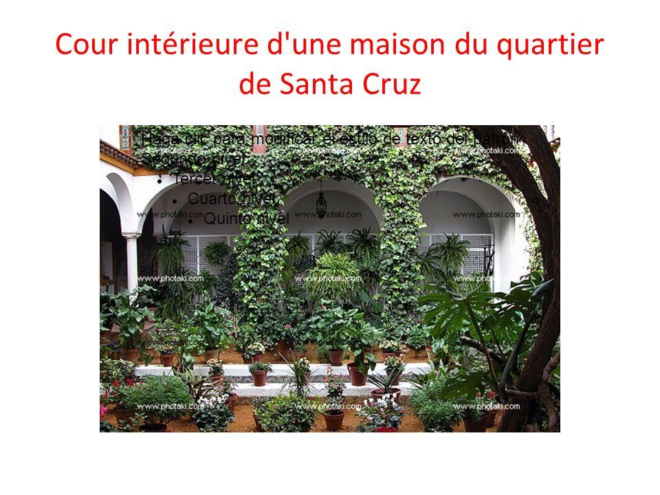 Cour intérieure d'une maison du quartier de Santa Cruz Haga clic para modificar el estilo de texto del patrón Segundo nivel Tercer nivel Cuarto nivel