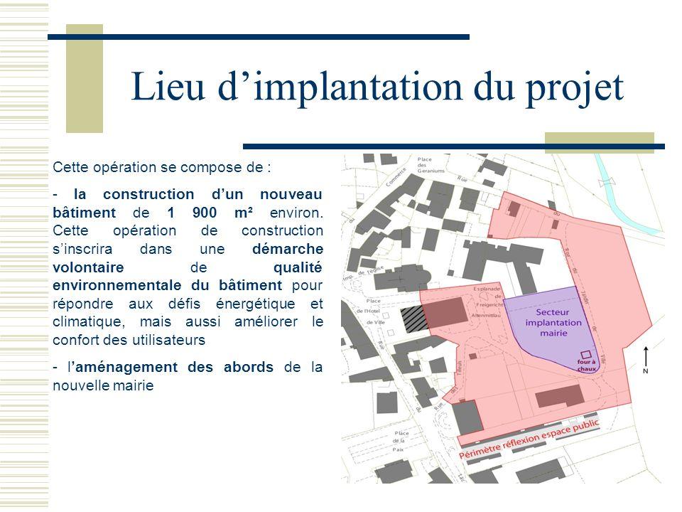 Cette opération se compose de : - la construction dun nouveau bâtiment de 1 900 m² environ. Cette opération de construction sinscrira dans une démarch