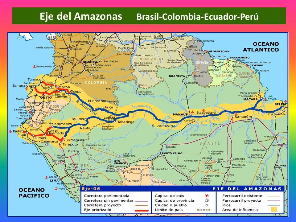 Eje del Amazonas Brasil-Colombia-Ecuador-Perú