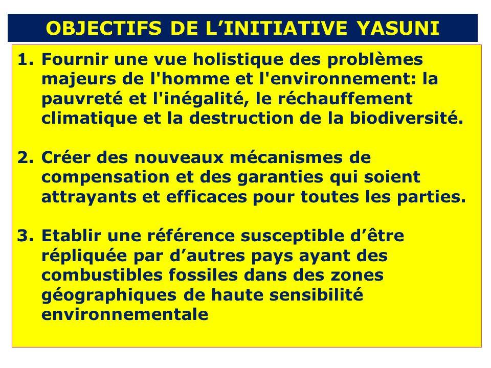 1.Fournir une vue holistique des problèmes majeurs de l homme et l environnement: la pauvreté et l inégalité, le réchauffement climatique et la destruction de la biodiversité.