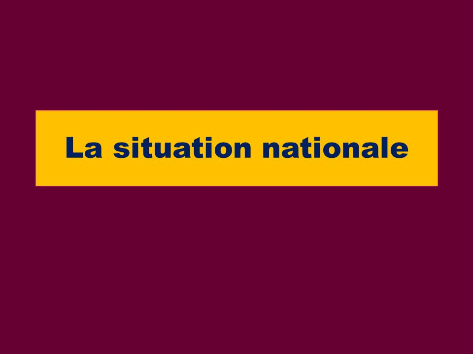 La situation nationale