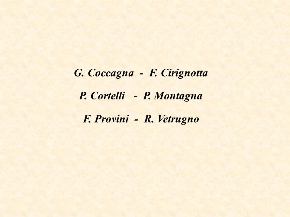 G. Coccagna - F. Cirignotta P. Cortelli - P. Montagna F. Provini - R. Vetrugno